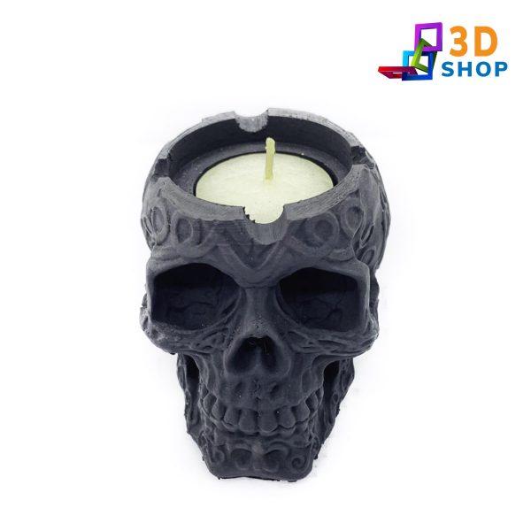 Calavera Cenicero o Portavelas impresa 3D - 3D Shop