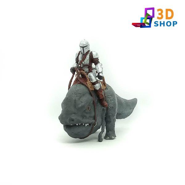 Mandalorian montado en blurrg impresión 3D - 3D Shop